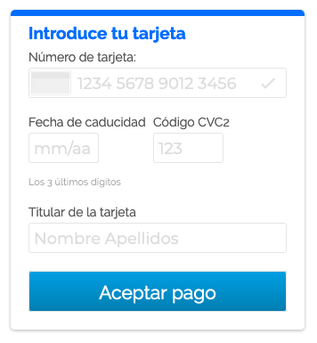 One Click payment with the Banco Sabadell solution